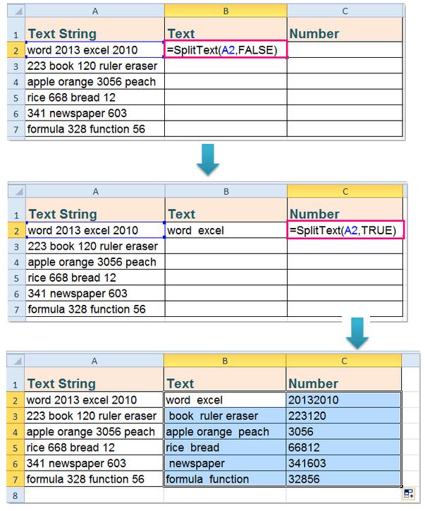 excel : dùng hàm để tách số và dạng text ra khỏi một ô